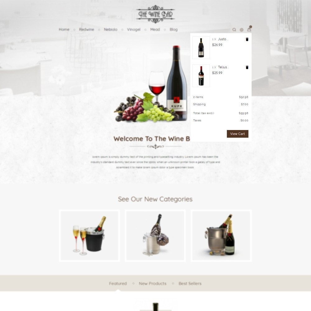 theme - Drink & Wine - Winebar WIne Store - 4