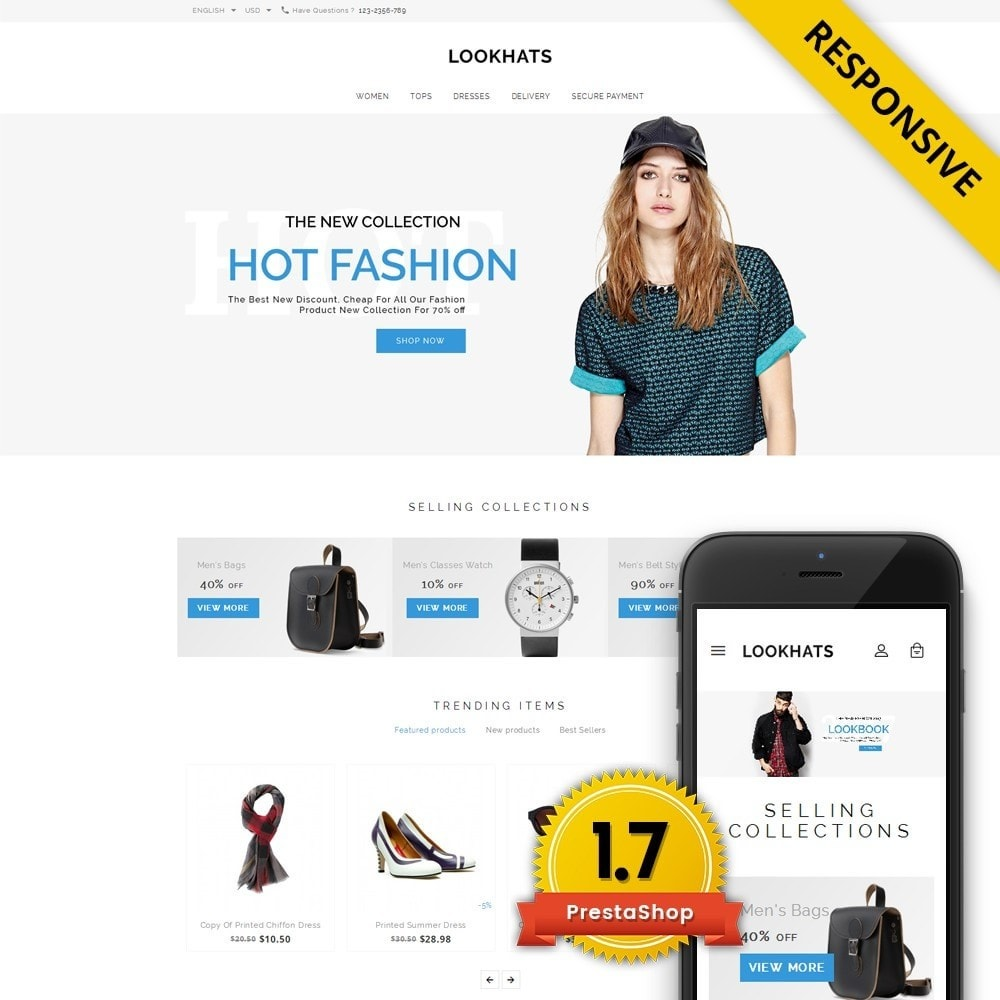 theme - Мода и обувь - Lookhats - Fashion Store - 1