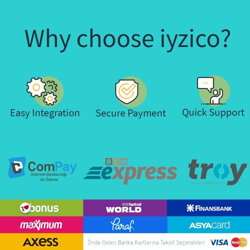 module - Paiement par Carte ou Wallet - Iyzico Easy Payment Sanal POS for Turkey - 2