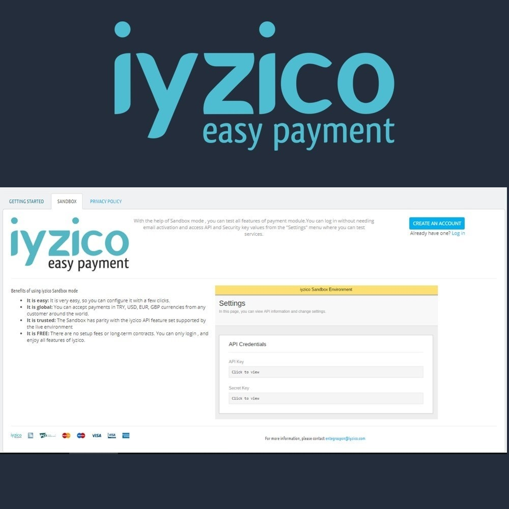 module - Creditcardbetaling of Walletbetaling - Iyzico Easy Payment Sanal POS for Turkey - 4