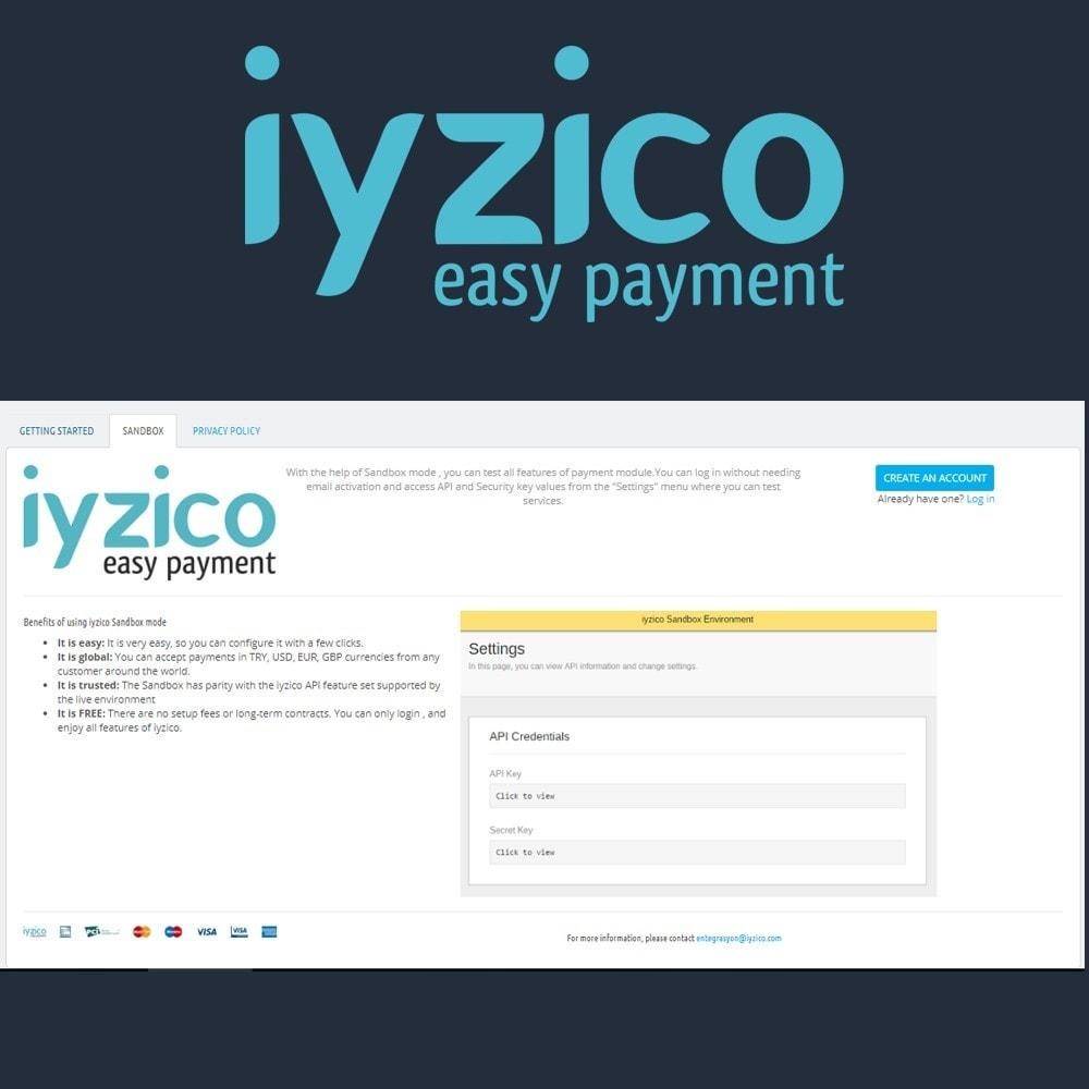 module - Pagamento por cartão ou por carteira - Iyzico Easy Payment Sanal POS for Turkey - 4