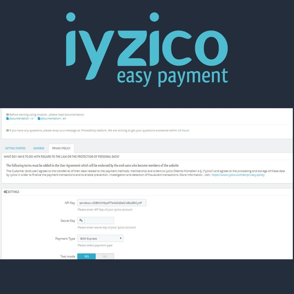 module - Creditcardbetaling of Walletbetaling - Iyzico Easy Payment - 5
