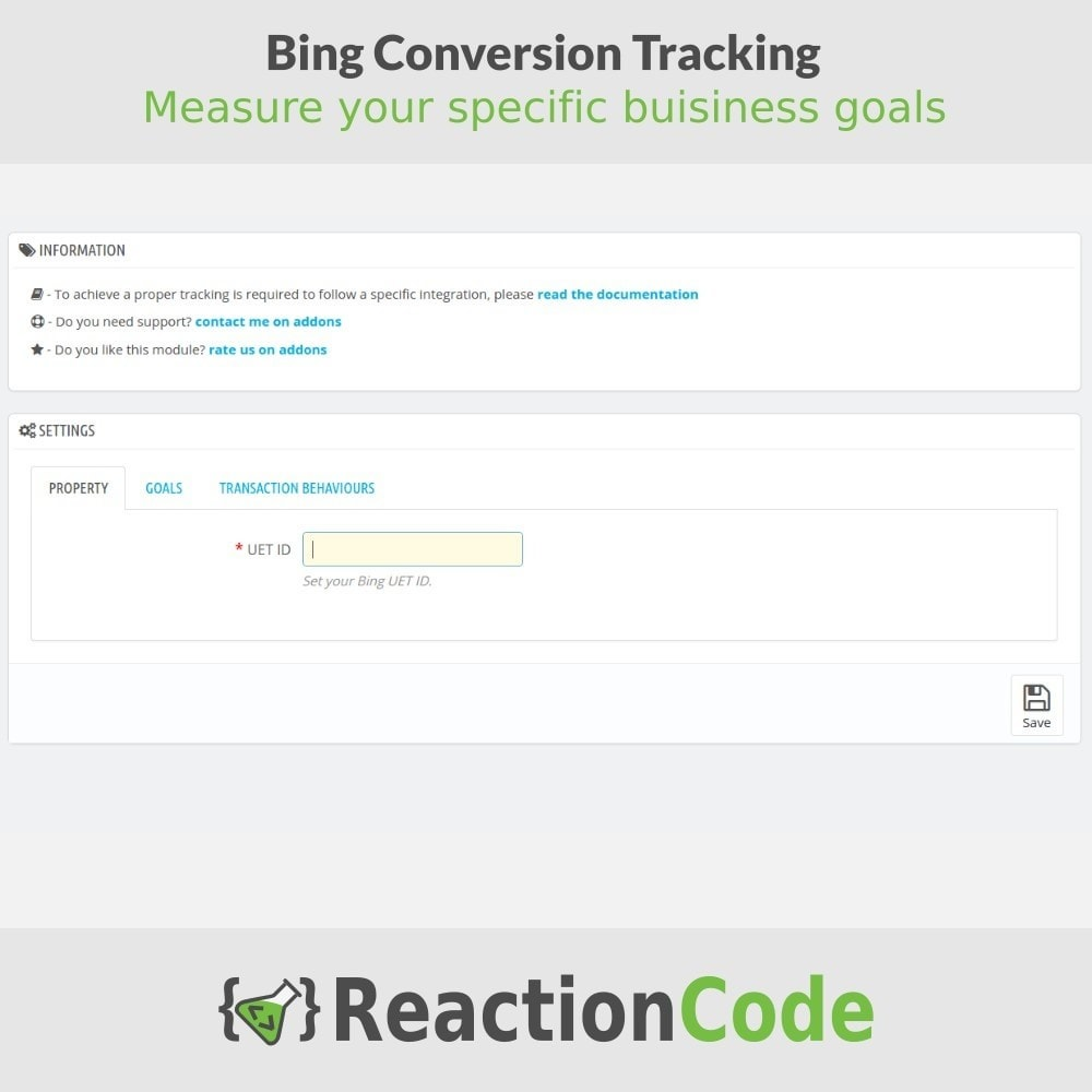 module - Informes y Estadísticas - Bing Conversion Tracking - 2