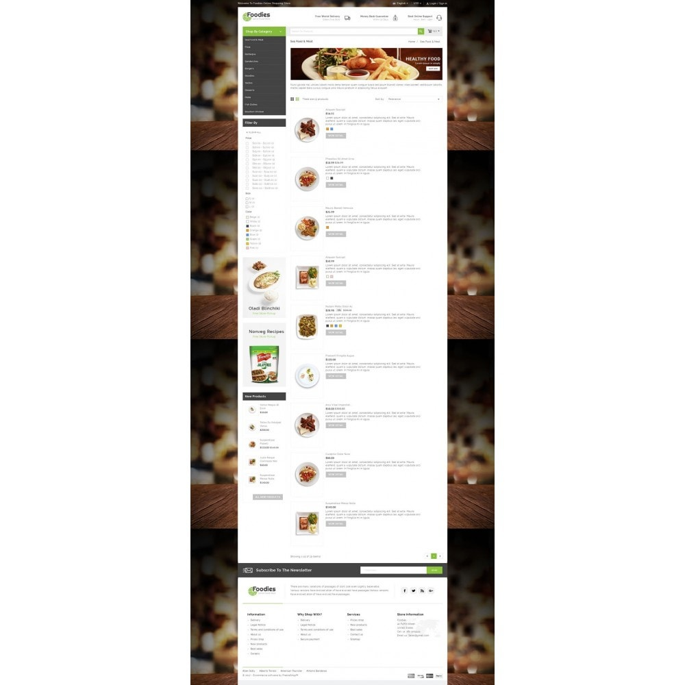 theme - Lebensmittel & Restaurants - Foodies - Restaurant Store - 4