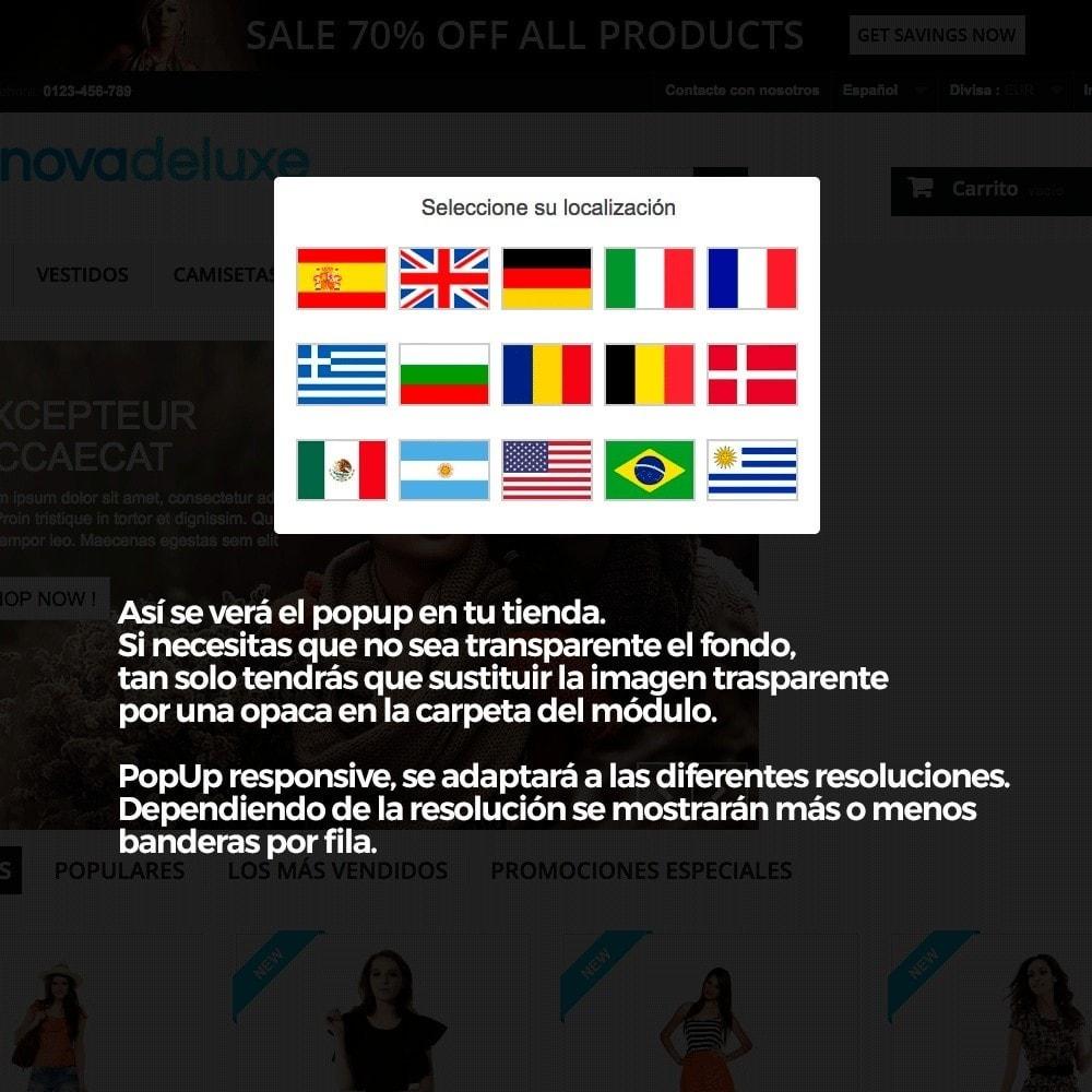 module - URL y Redirecciones - Popup con banderas para redireccionar a otros webs - 7