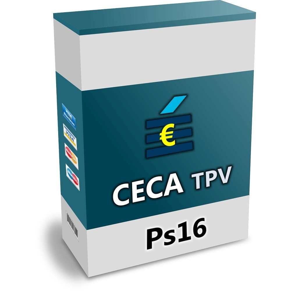 module - Zahlung per Kreditkarte oder Wallet - CECA TPV PS16 credit card Secure Pay SHA2 - 1