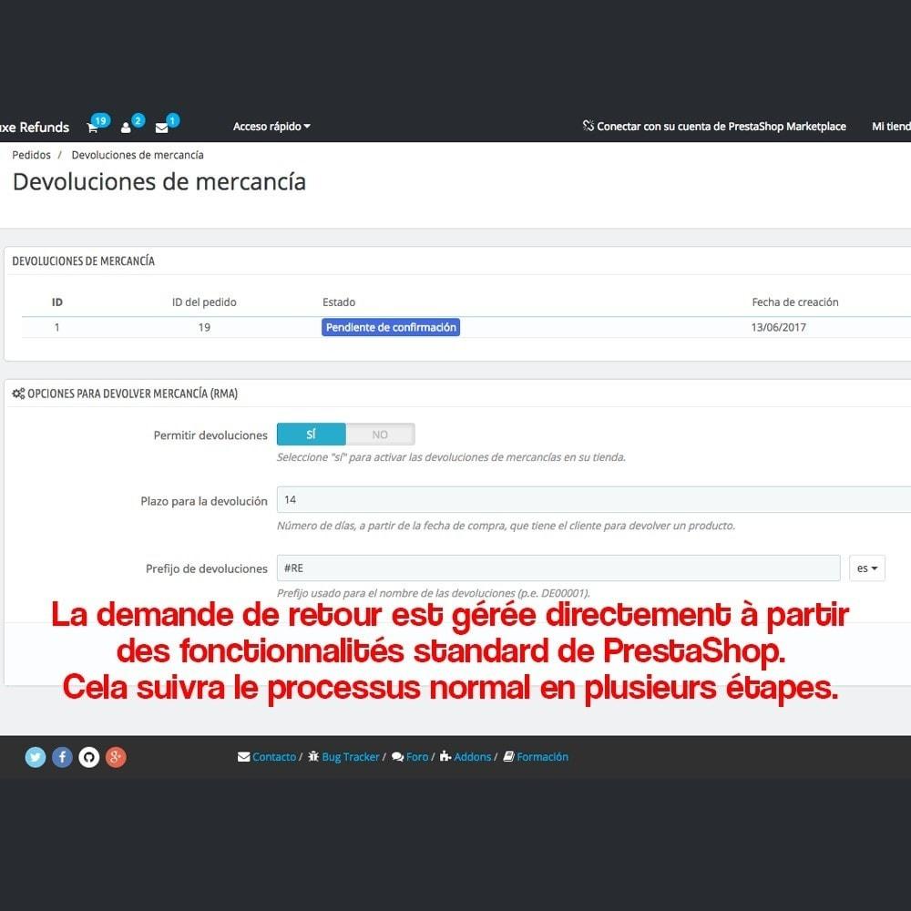 module - Législation (Loi Hamon) - Retour des produits (Loi de défense du Consommateur) - 14