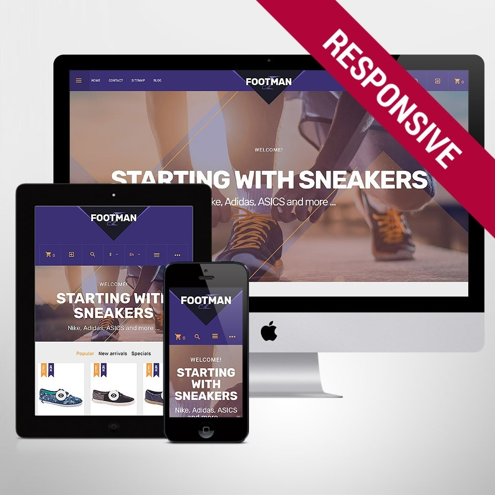 theme - Mode & Chaussures - Footman - Sneakers Store - 1