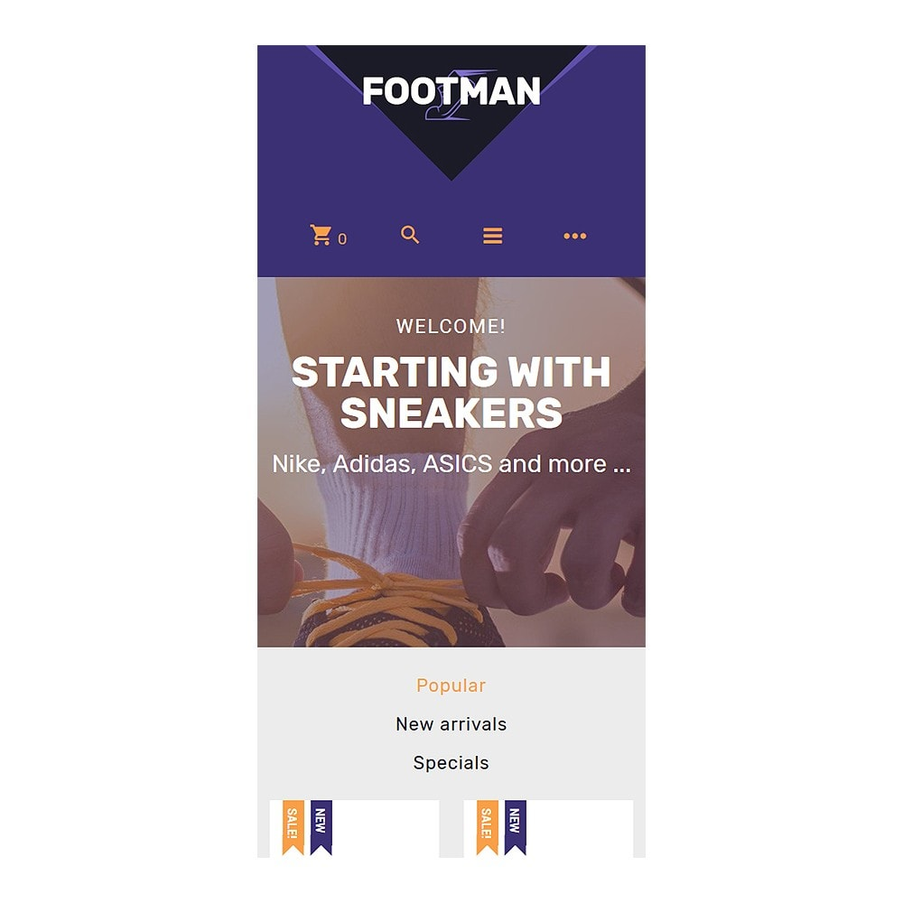 theme - Mode & Chaussures - Footman - Sneakers Store - 9