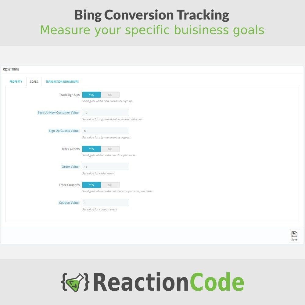 module - Analytics & Statistiche - Bing Conversion Tracking - 3