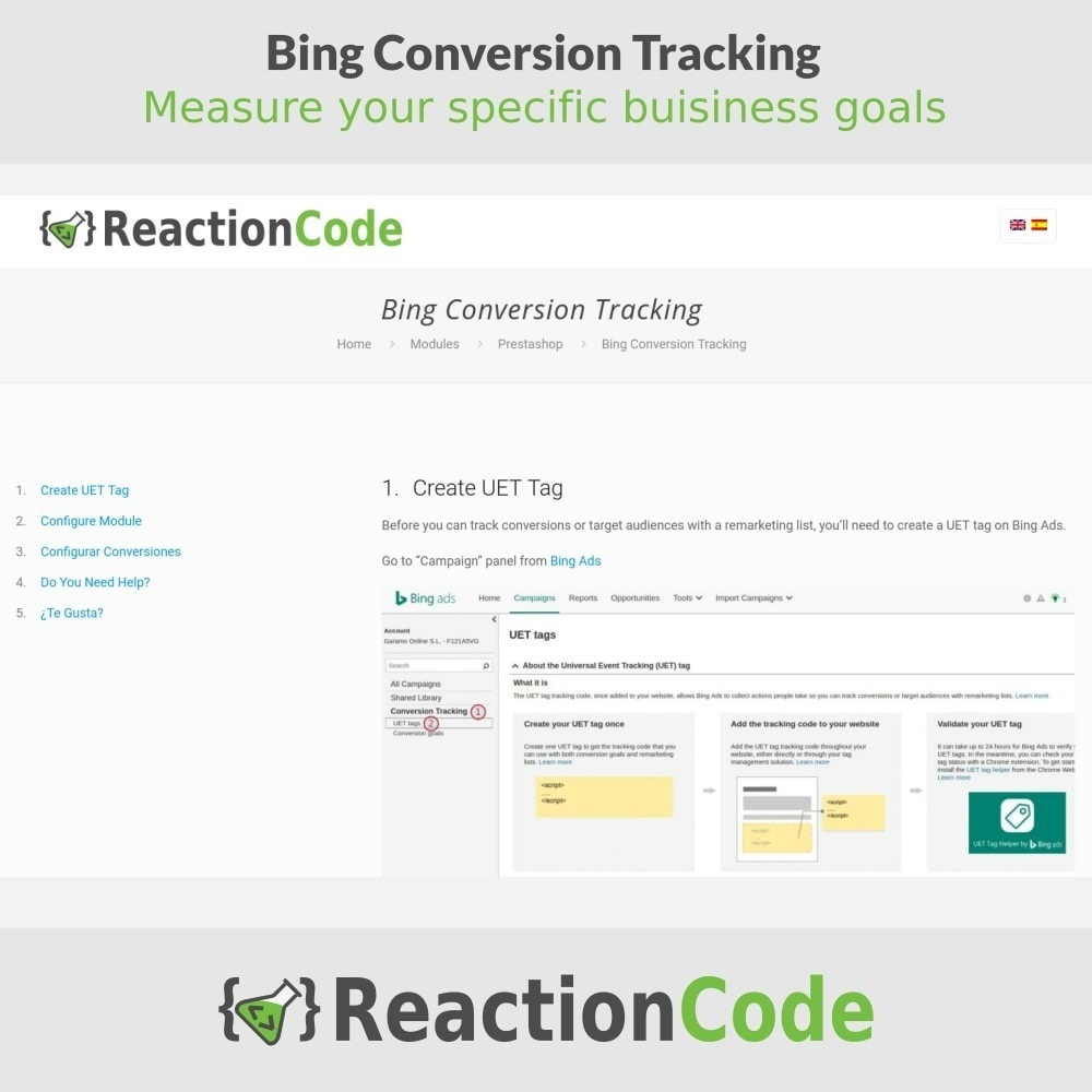 module - Informes y Estadísticas - Bing Conversion Tracking - 5