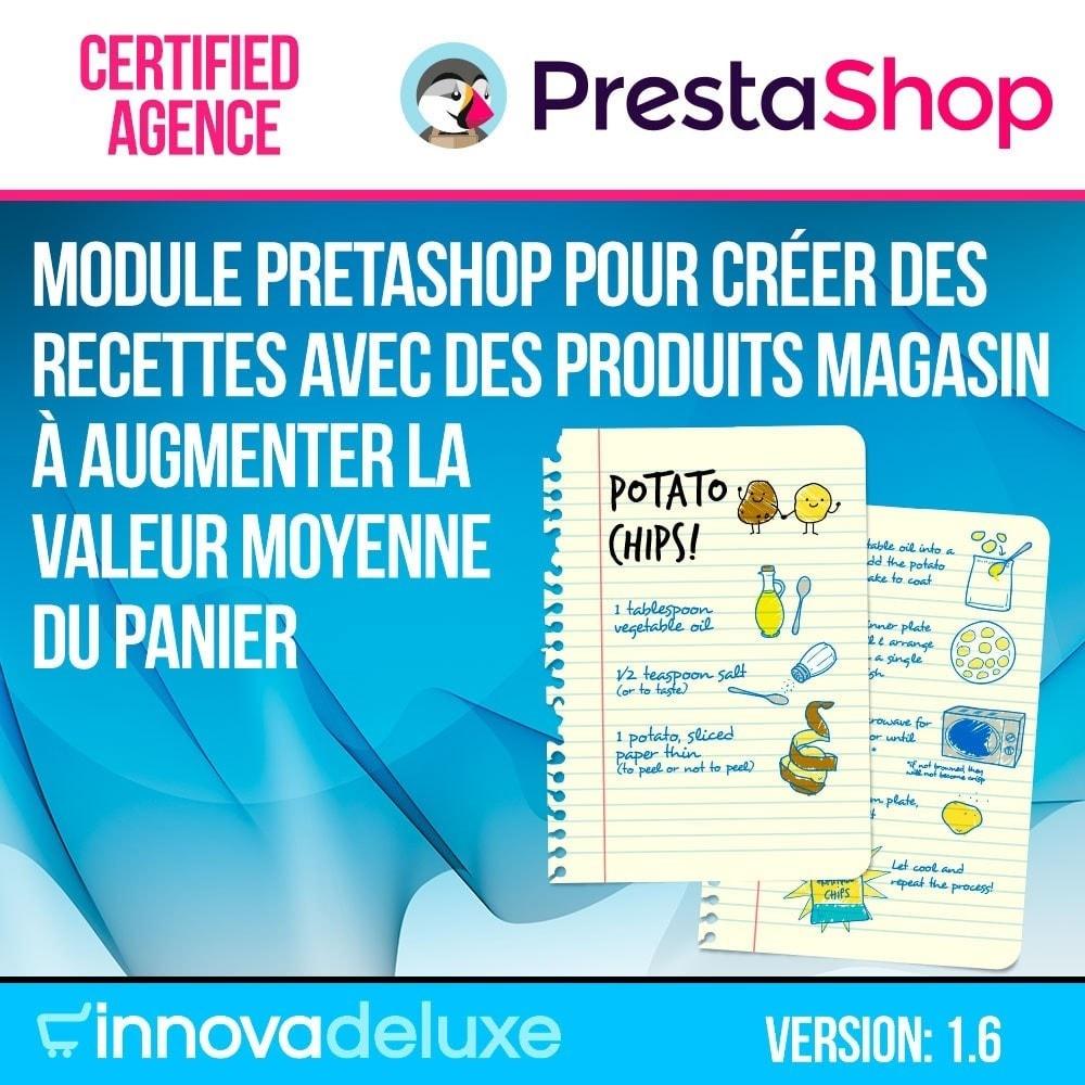 module - Blog, Forum & Actualités - Gestionnaire de recettes avec des produits magasin - 1