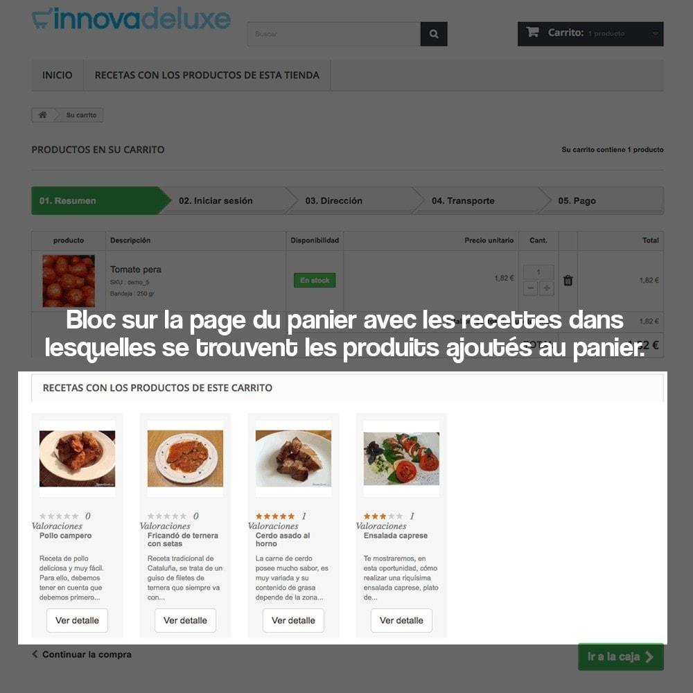 module - Blog, Forum & Actualités - Gestionnaire de recettes avec des produits magasin - 17