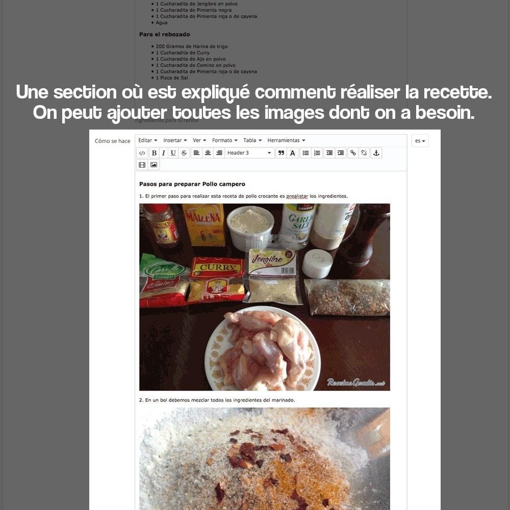 module - Blog, Forum & Actualités - Gestionnaire de recettes avec des produits magasin - 23