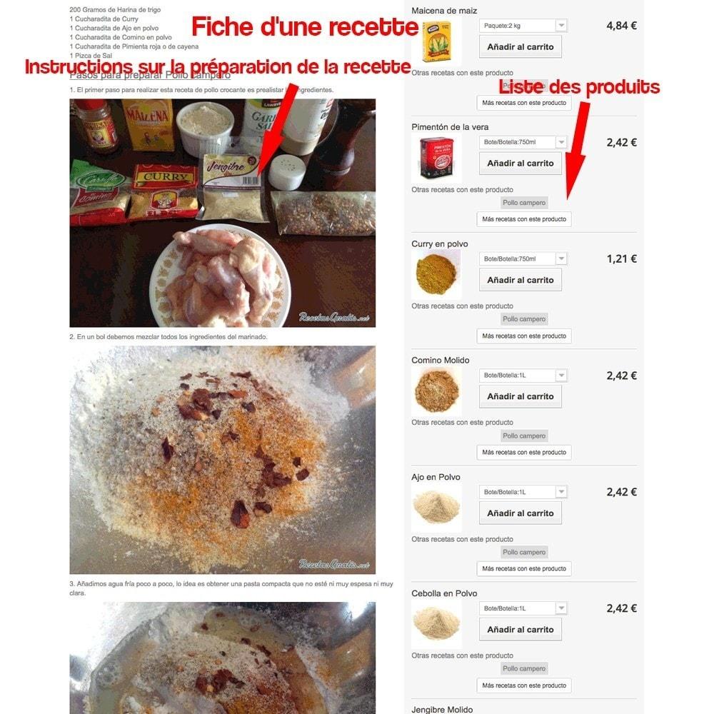 module - Blog, Forum & Actualités - Gestionnaire de recettes avec des produits magasin - 33