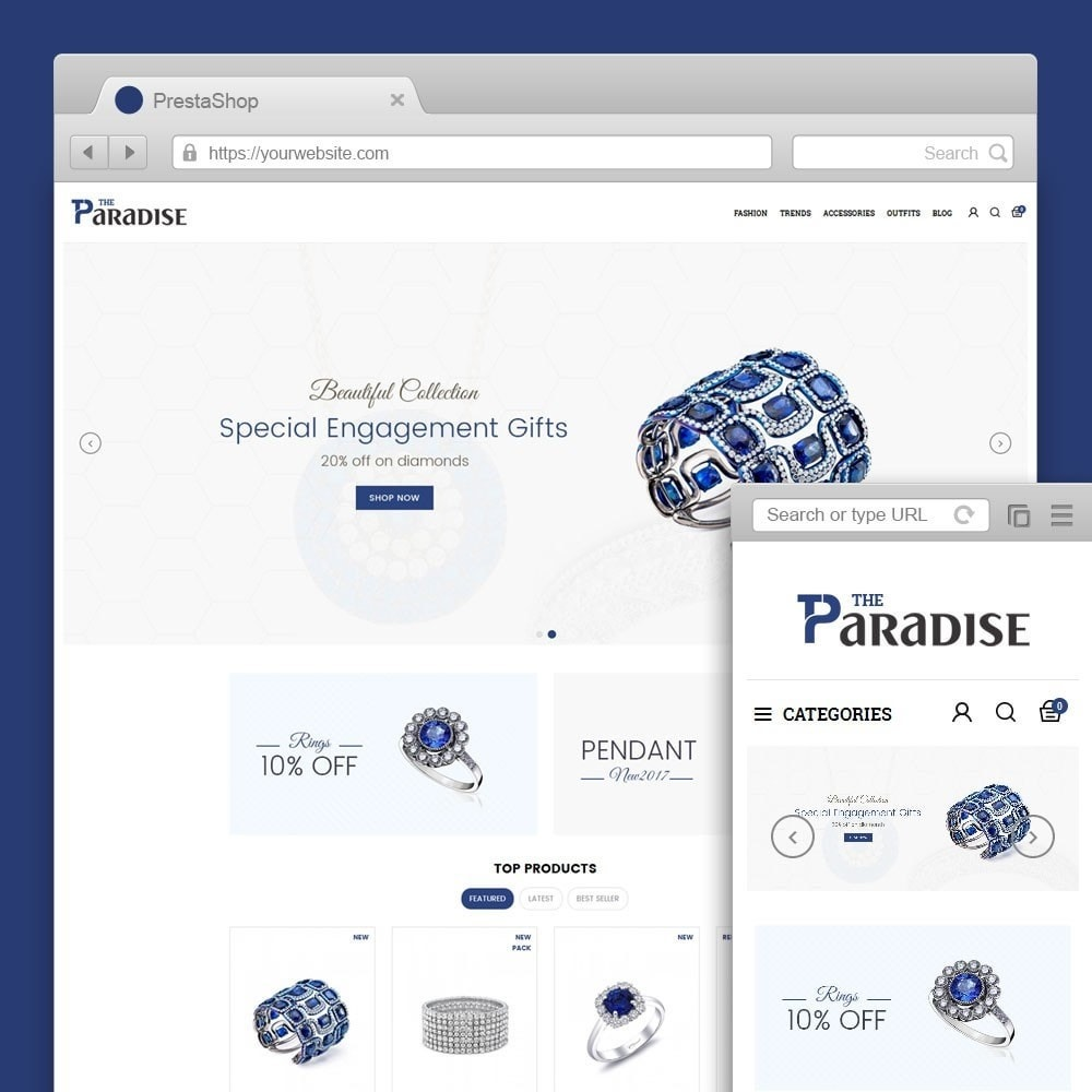 theme - Jewelry & Accessories - Paradise Jewellery Store - 1