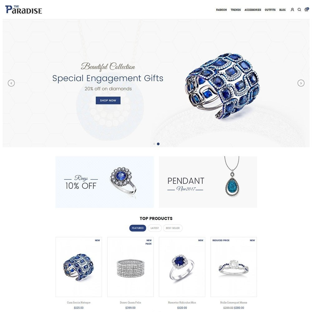 theme - Jewelry & Accessories - Paradise Jewellery Store - 2