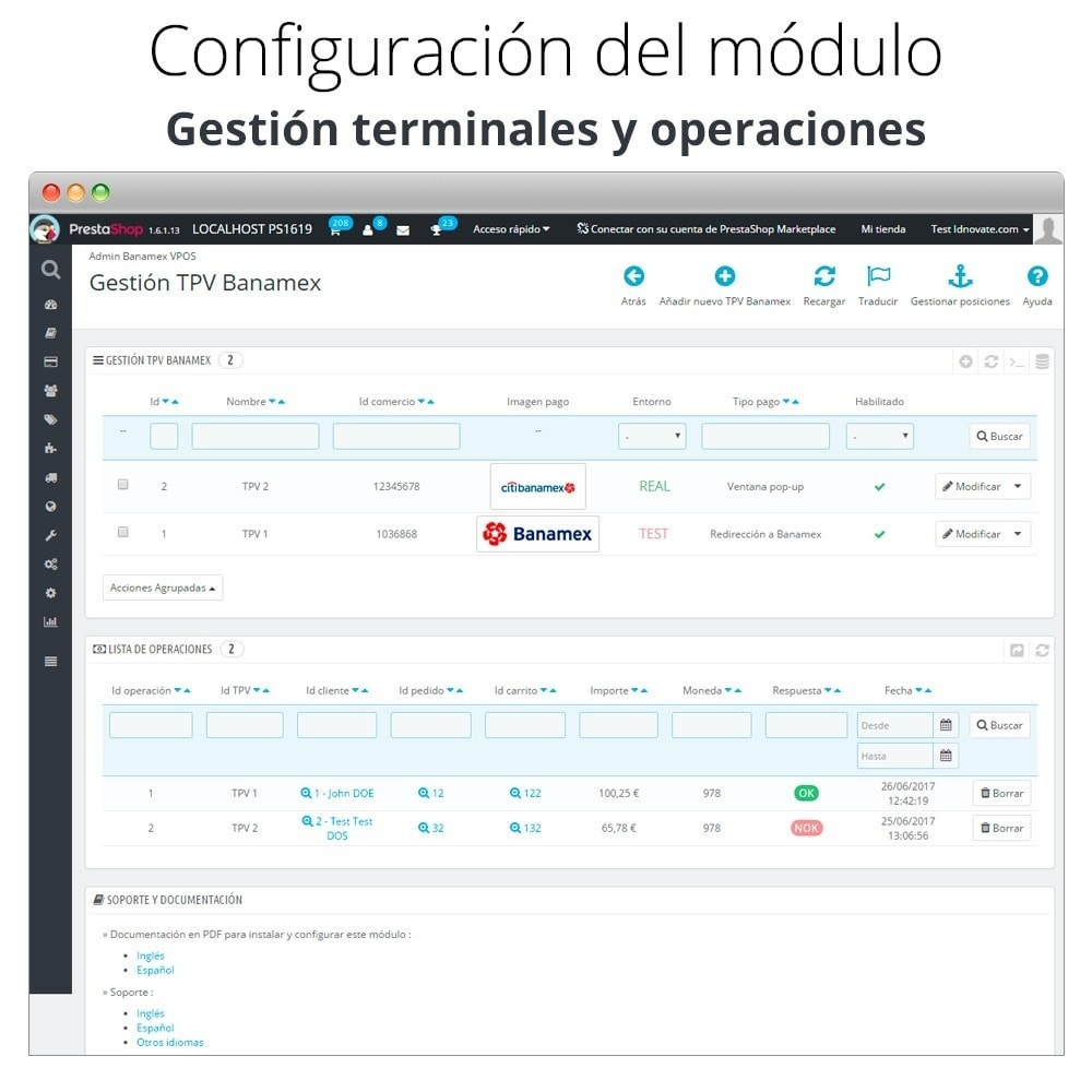 module - Payment by Card or Wallet - Banamex card payment - 2
