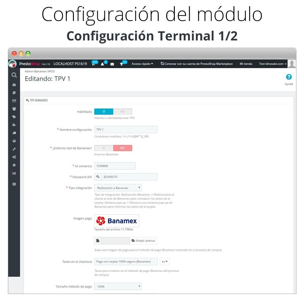 module - Payment by Card or Wallet - Banamex card payment - 3