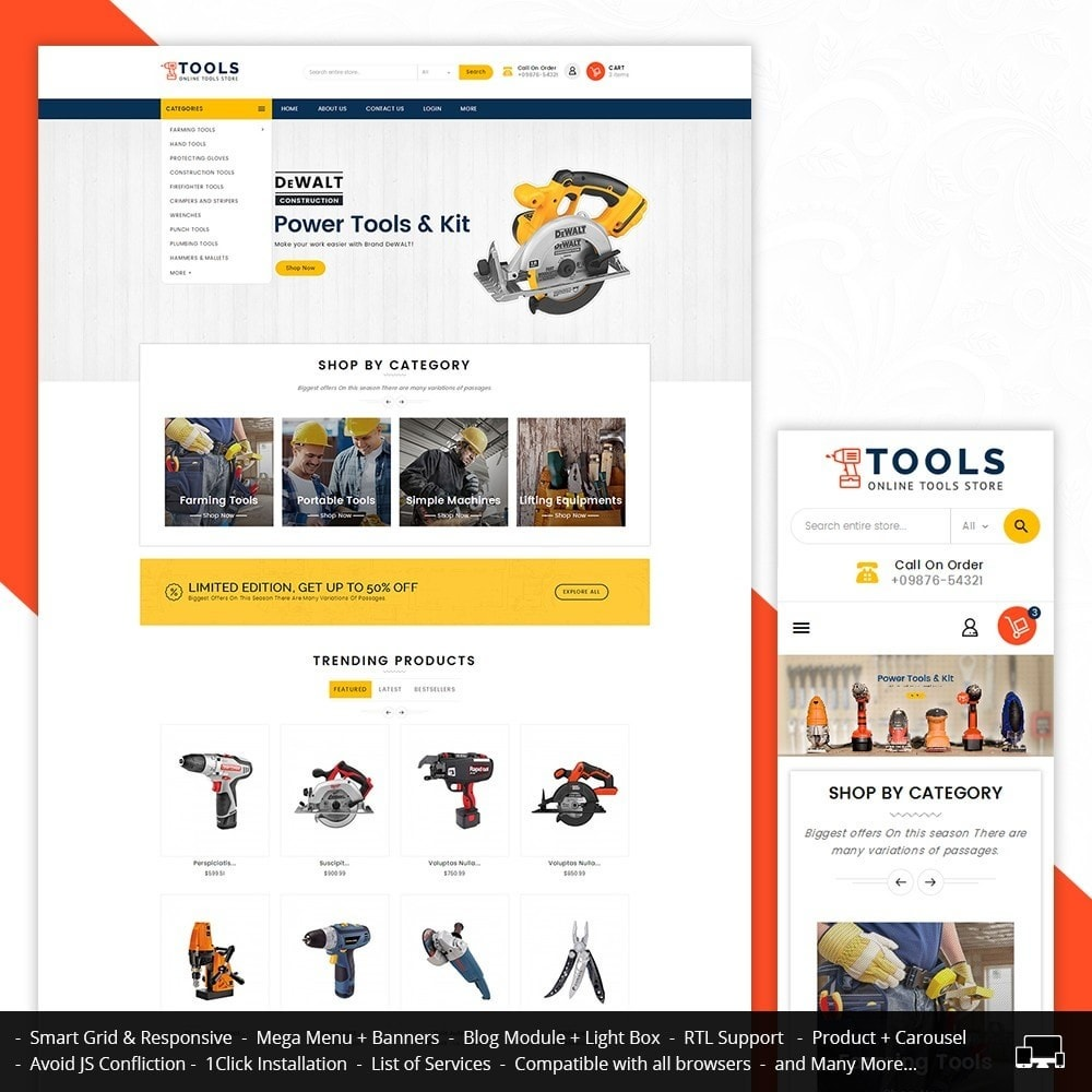 theme - Elektronica & High Tech - Mega Tools Store - 1