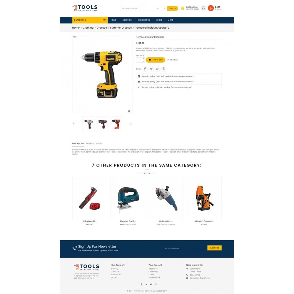 theme - Elettronica & High Tech - Mega Tools Store - 5