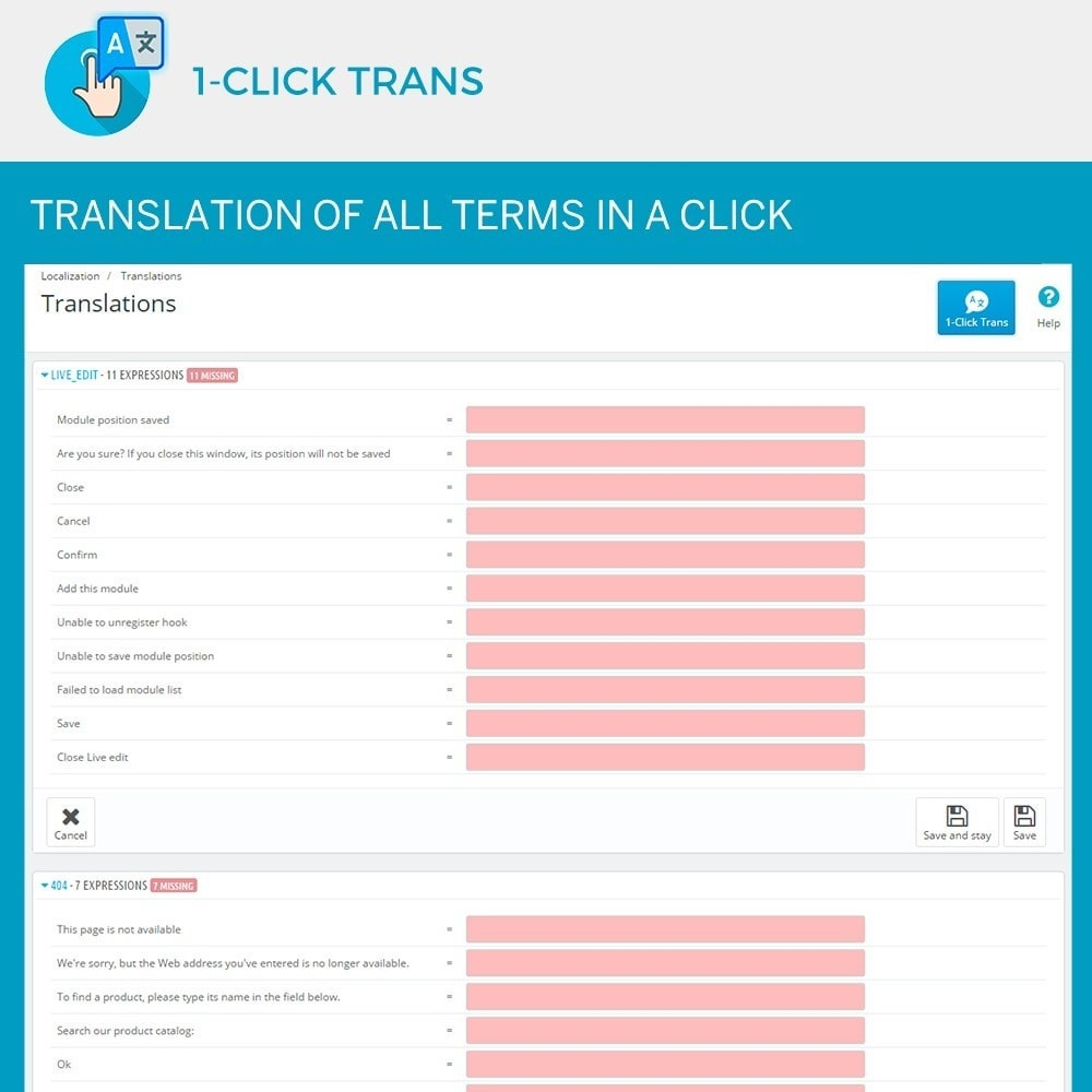 module - Internationaal & Lokalisatie - 1-Click Trans - 2