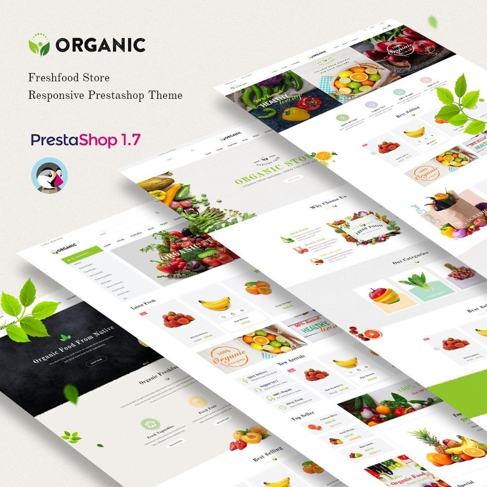 theme - Food & Restaurant - JMS Organic II - 1