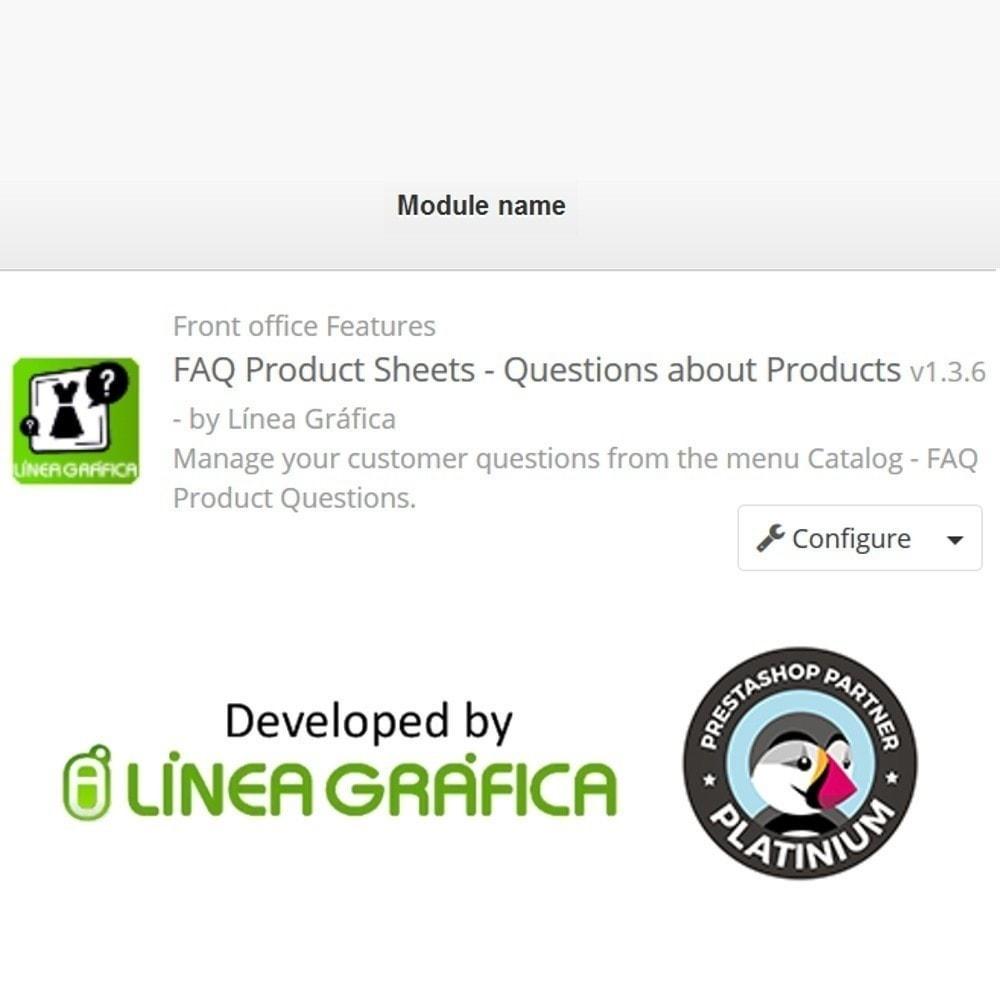 module - FAQ (Häufig gestellte Fragen) - FAQ Produktblätter - Häufig gestellte Fragen - 14