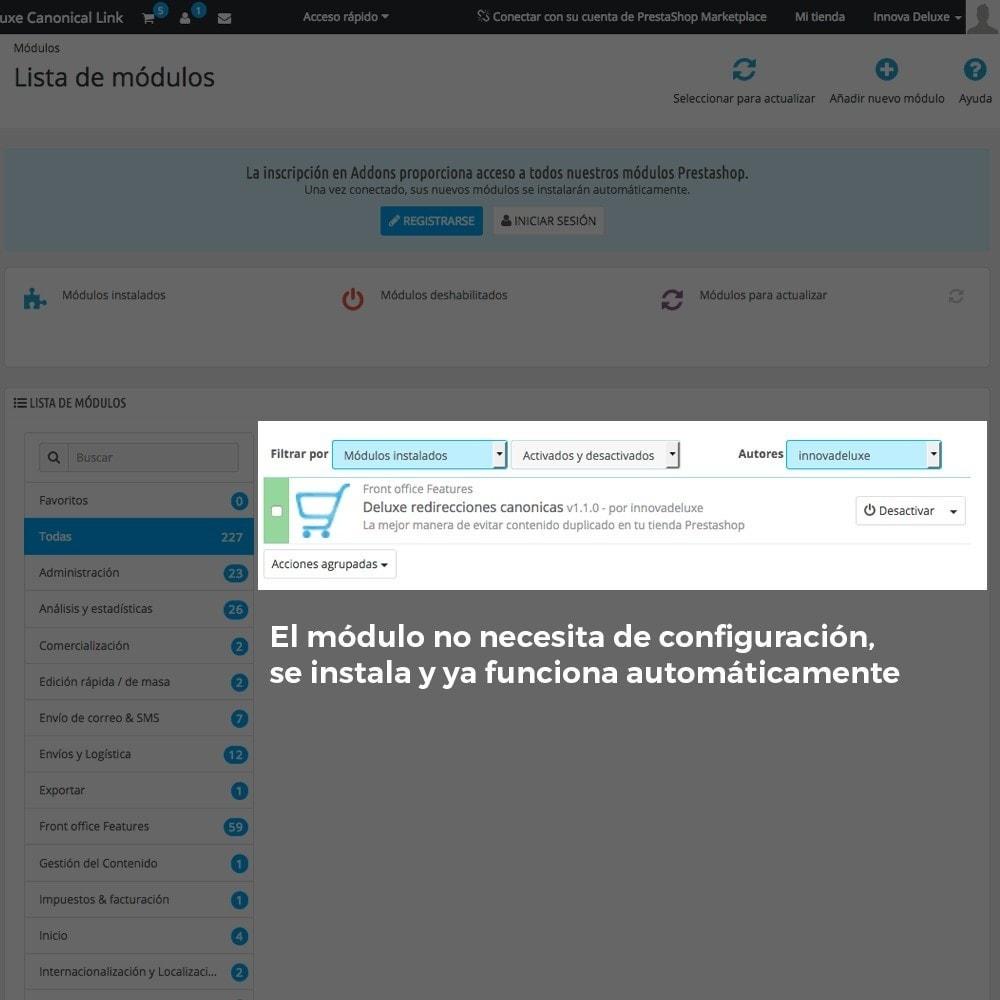 module - URL y Redirecciones - Información de redirección de URL canónica para Google - 2
