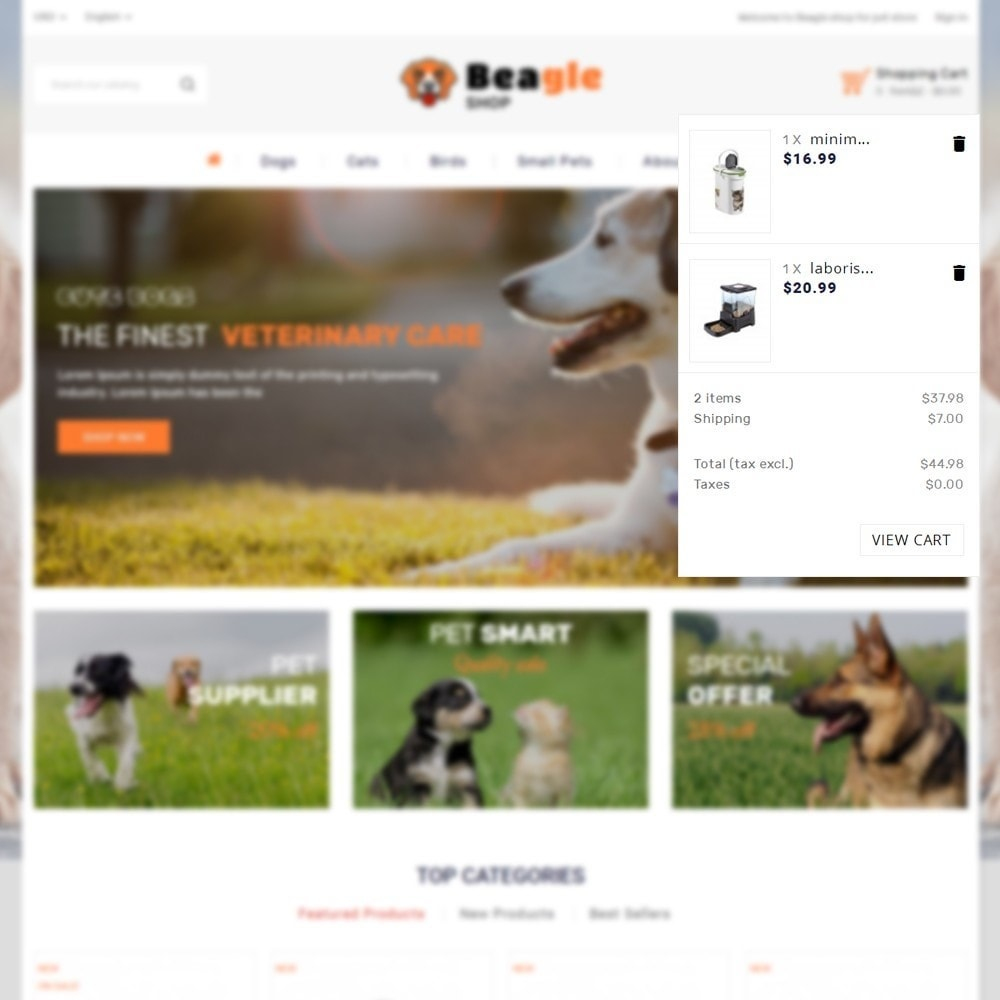 theme - Animales y Mascotas - Beagle shop - 7