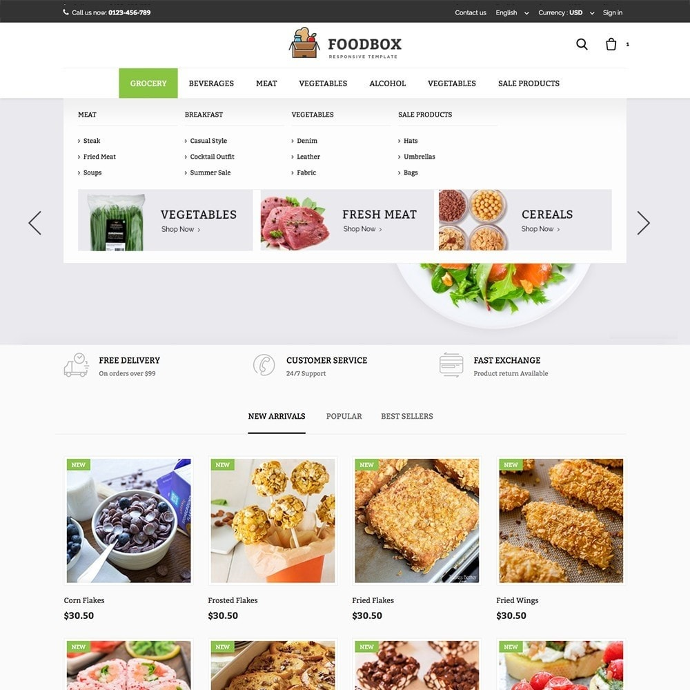 theme - Żywność & Restauracje - Foodbox - 2