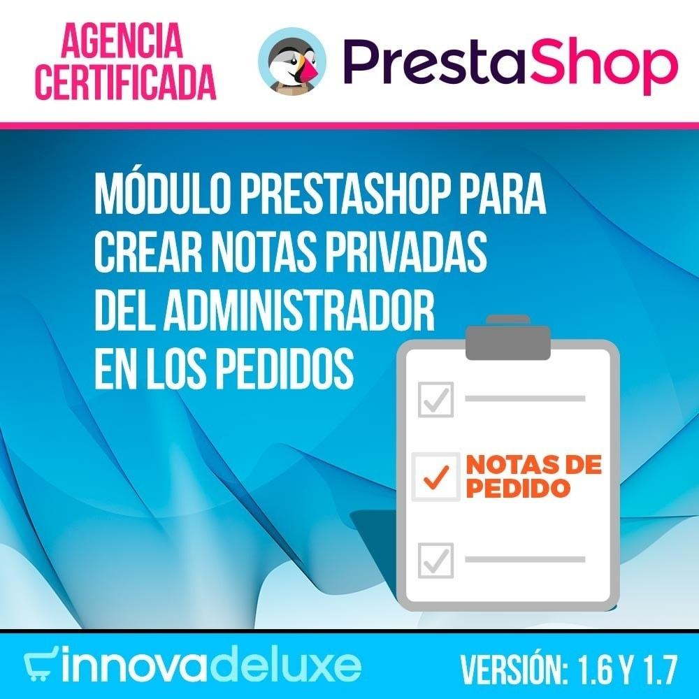 module - Gestión de Pedidos - Notas privadas del administrador en los pedidos - 1