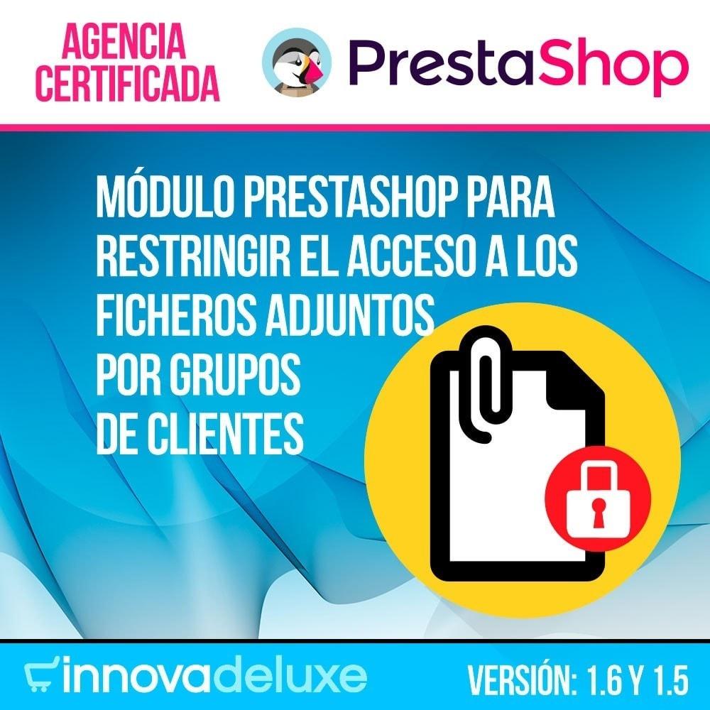 module - Gestión de clientes - Archivos adjuntos de producto por grupos de cliente - 1