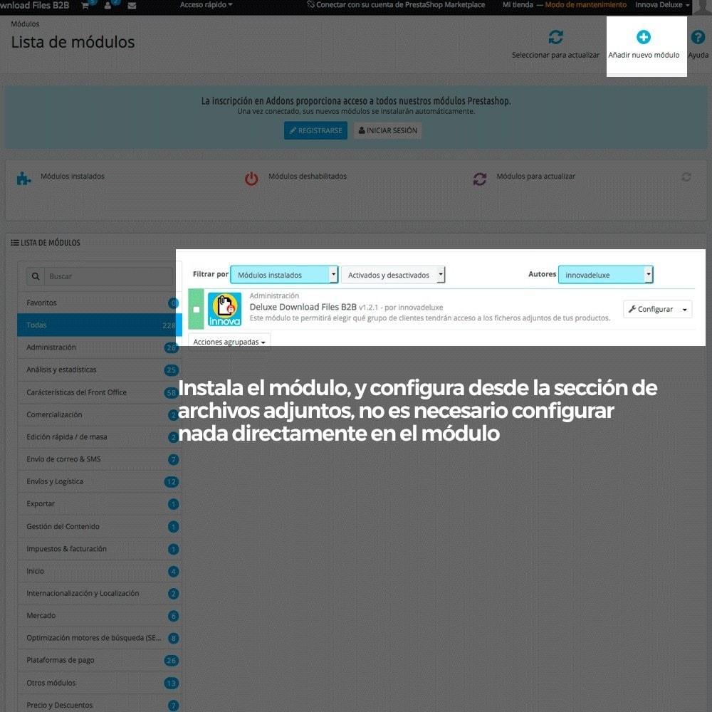 module - Gestión de clientes - Archivos adjuntos de producto por grupos de cliente - 2