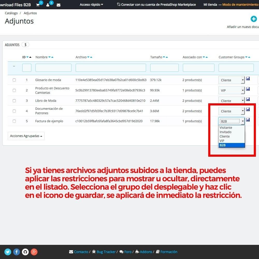 module - Gestión de clientes - Archivos adjuntos de producto por grupos de cliente - 4