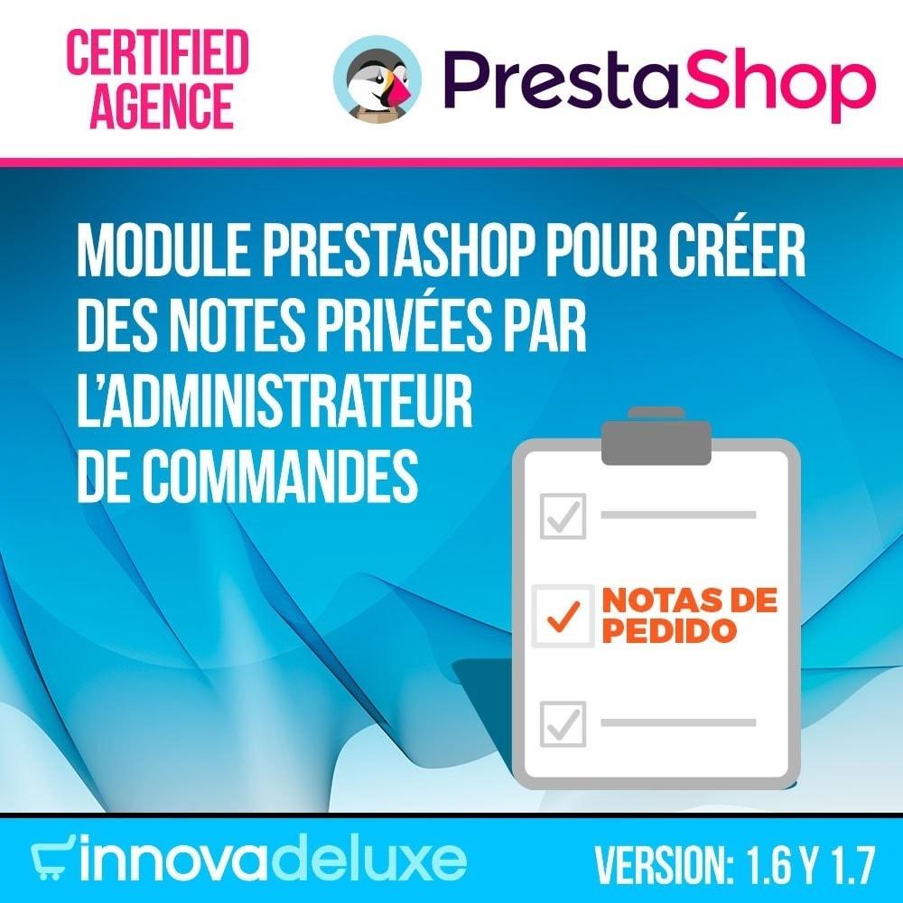 module - Gestion des Commandes - Notes personnelles de l'administrateur de commandes - 1