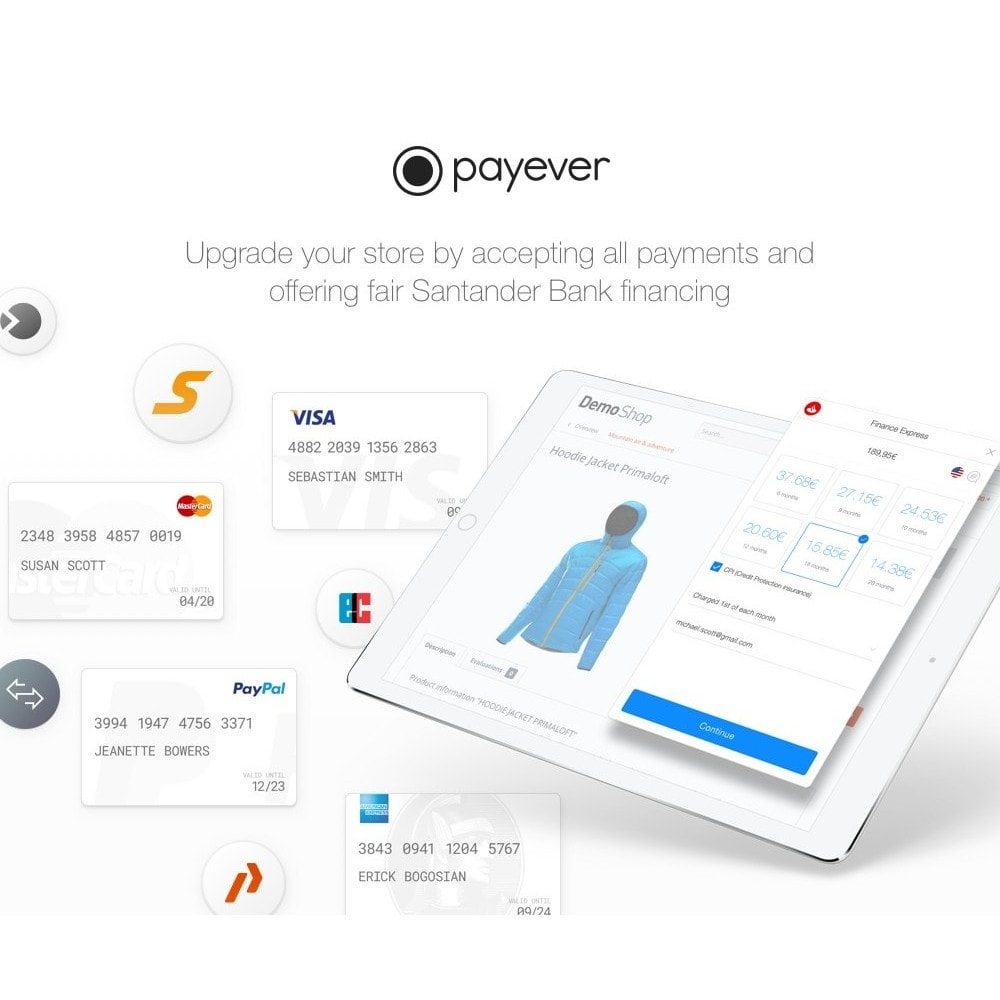 module - Creditcardbetaling of Walletbetaling - payever - Credit Card, Invoice, ELV, Installments - 1
