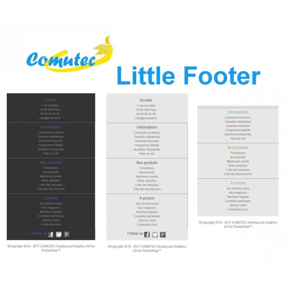 module - Personnalisation de Page - Comutec Little Footer - 2