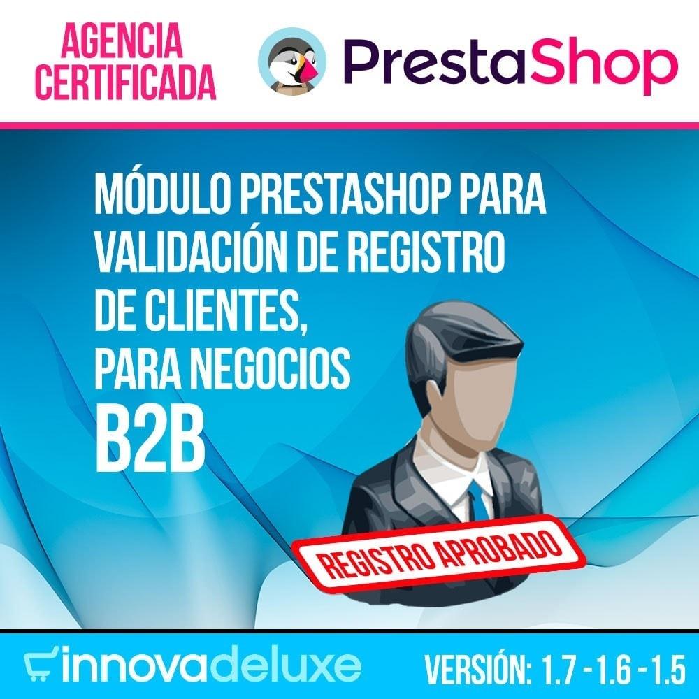 module - B2B - Registro de clientes validado por el administrador - 1