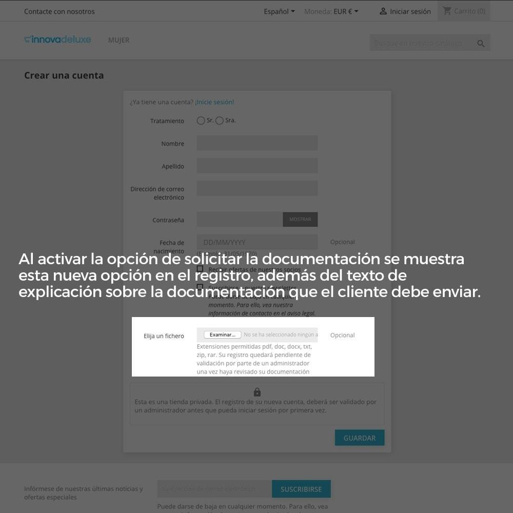 module - B2B - Registro de clientes validado por el administrador - 7