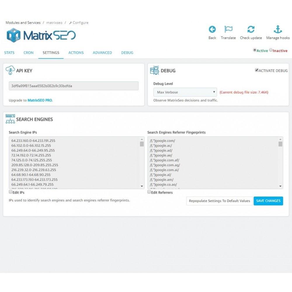 module - SEO (Pozycjonowanie naturalne) - Matrix SEO - 1