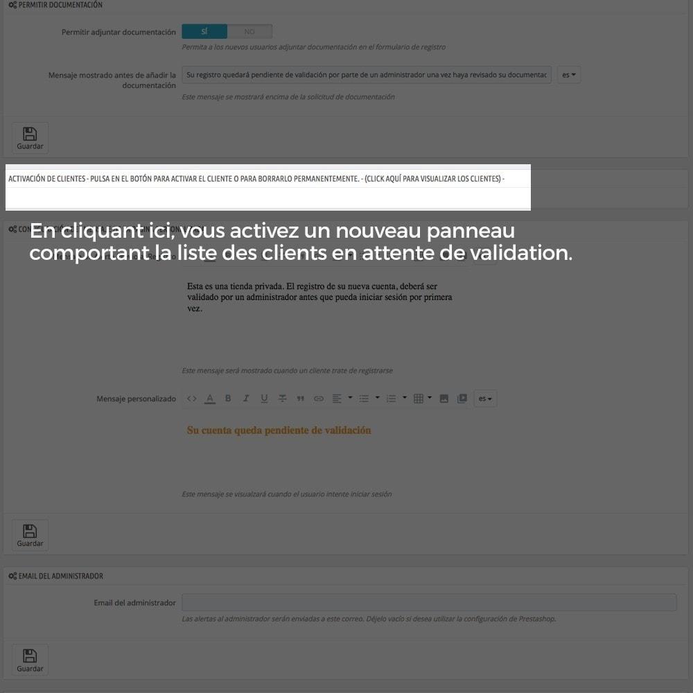 module - B2B - Enregistrement de clients validé par l'administrateur - 8