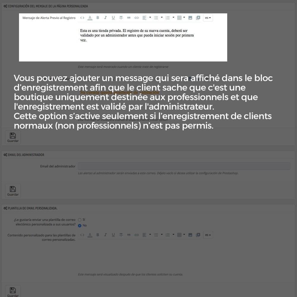 module - B2B - Enregistrement de clients validé par l'administrateur - 10