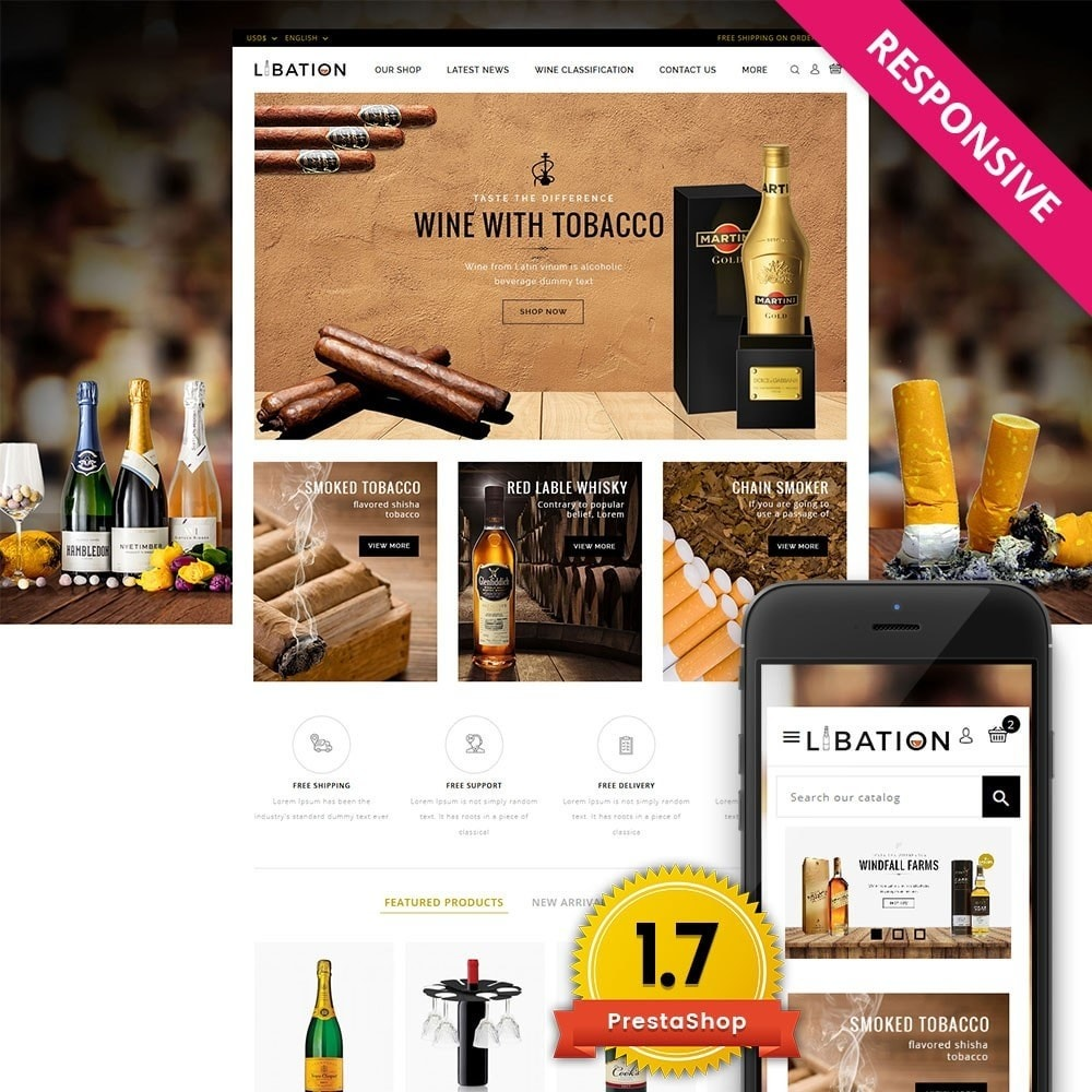 theme - Drink & Tobacco - Libation Wine Store - 1