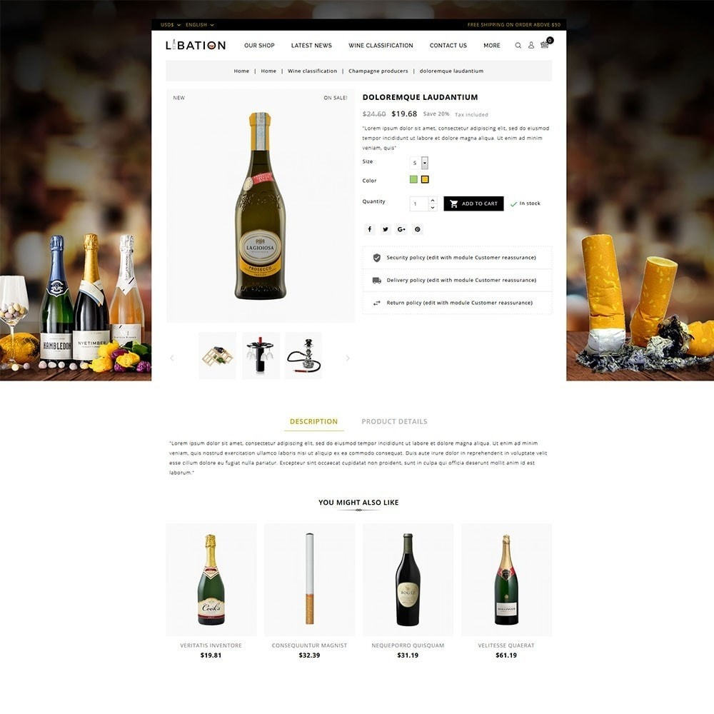 theme - Drink & Tobacco - Libation Wine Store - 5