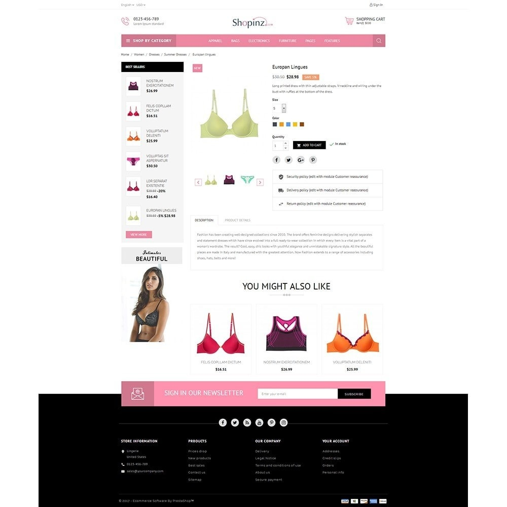 theme - Mode & Chaussures - Lingerie Store - 5