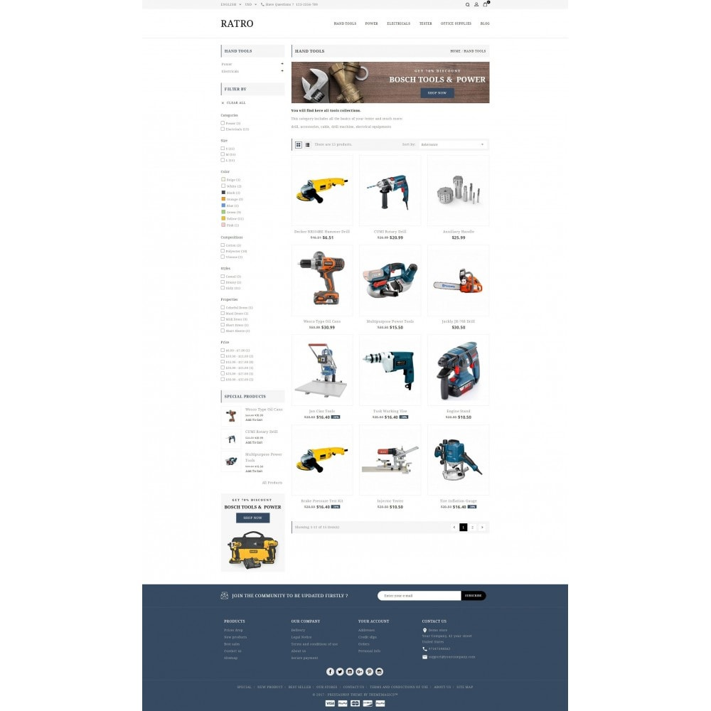 theme - Automotive & Cars - Ratro - Tools shop - 3