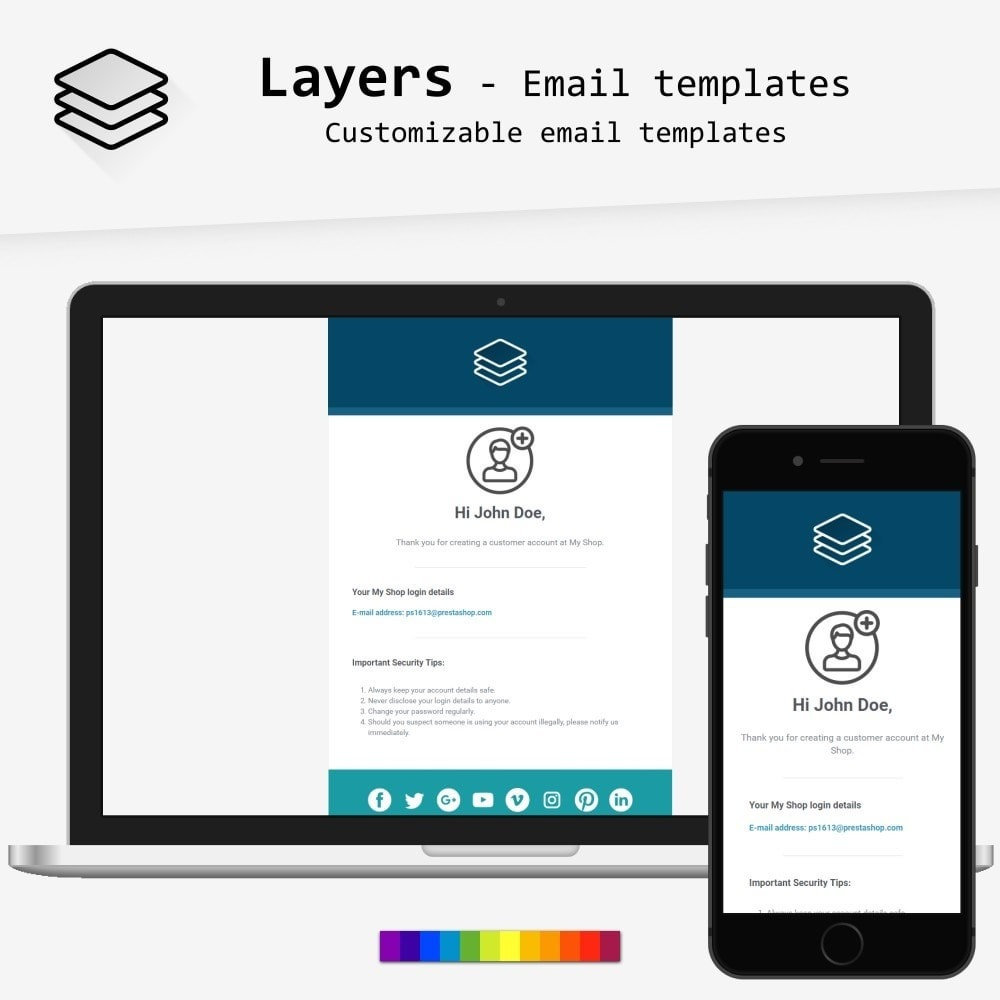 email - PrestaShop email templates - Layers - Email templates - 1