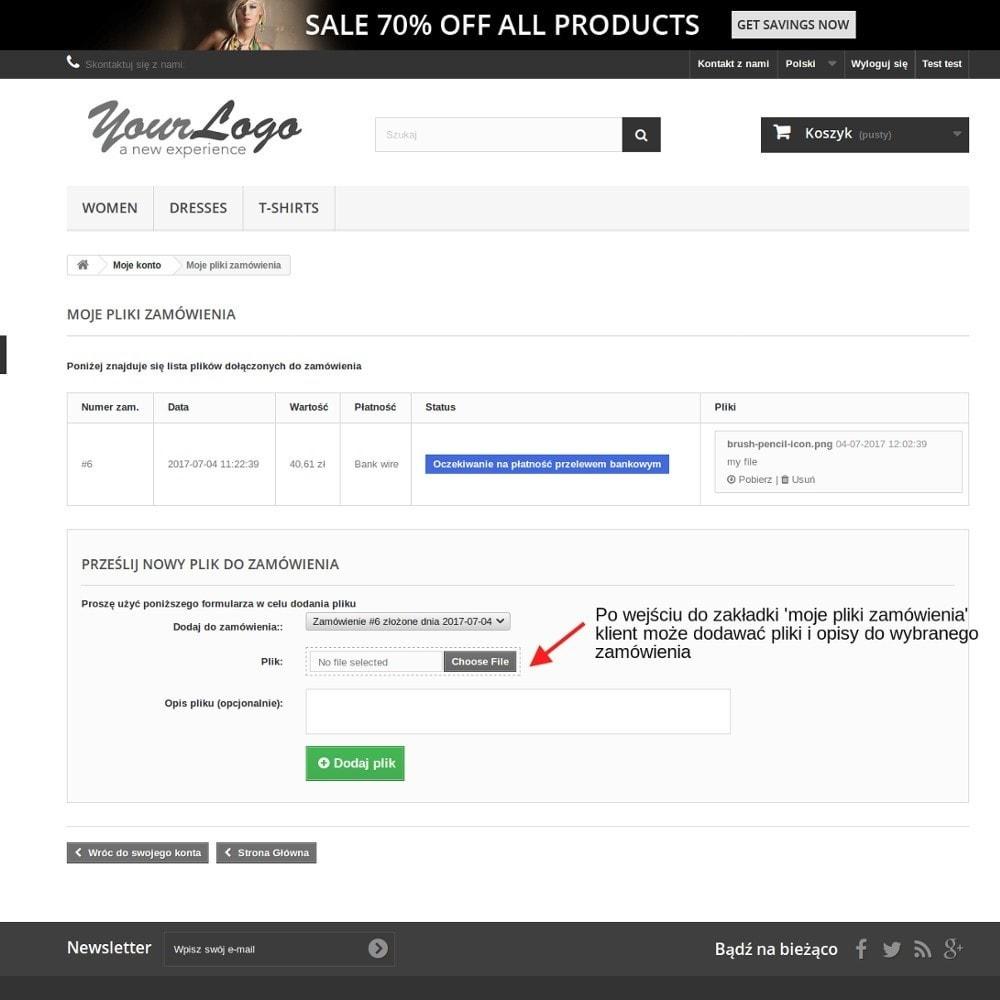 module - Procedury składania zamówień - Pliki zamówienia - powiąż pliki z zamówieniami - 3
