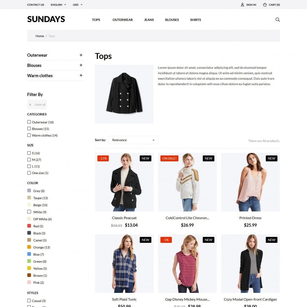 theme - Мода и обувь - Sundays Fashion Store - 5